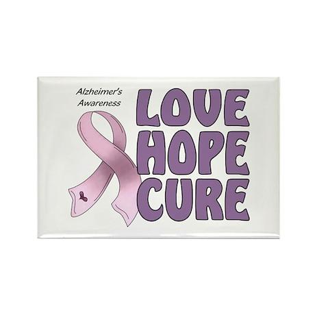 Alzheimer's Awareness Rectangle Magnet (100 pack)