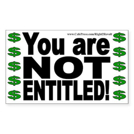 NOT Entitled (sticker)