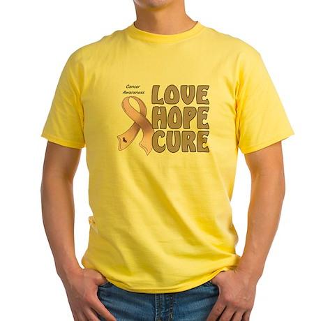 Cancer Awareness Yellow T-Shirt