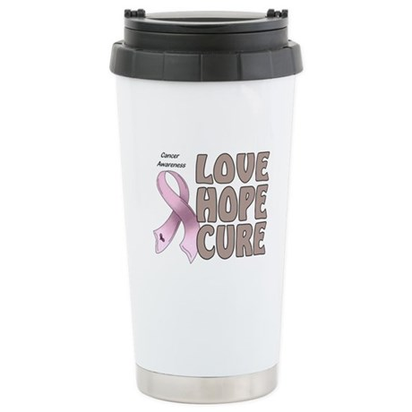 Cancer Awareness Stainless Steel Travel Mug