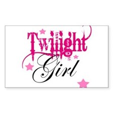 Twilight Girl Rectangle Decal