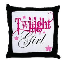 Twilight Girl Throw Pillow