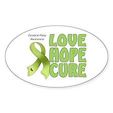 Cerebral Palsy Awareness Oval Sticker (10 pk)