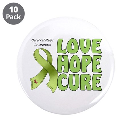 """Cerebral Palsy Awareness 3.5"""" Button (10 pack)"""