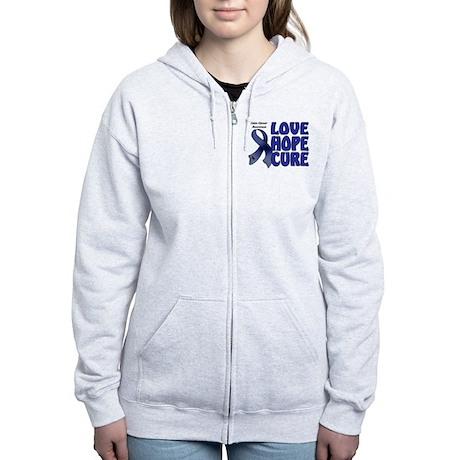 Colon Cancer Women's Zip Hoodie
