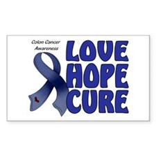 Colon Cancer Rectangle Decal