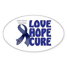Colon Cancer Oval Sticker (10 pk)