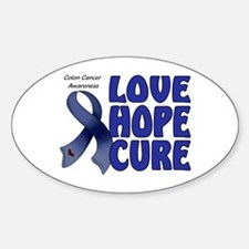 Colon Cancer Oval Decal