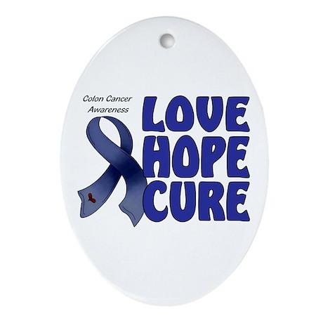 Colon Cancer Oval Ornament