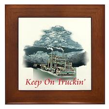 Keep On Truckin Framed Tile