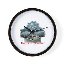 Keep On Truckin Wall Clock