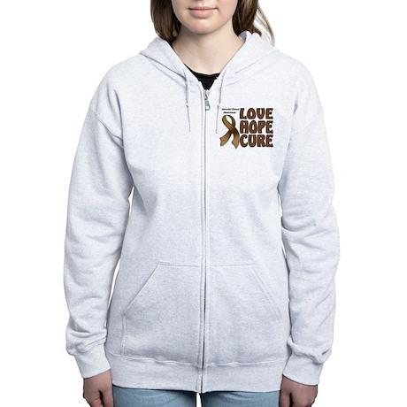 Colorectal Cancer Awareness Women's Zip Hoodie