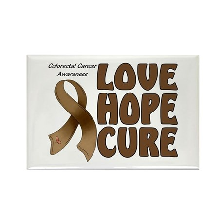 Colorectal Cancer Awareness Rectangle Magnet (100
