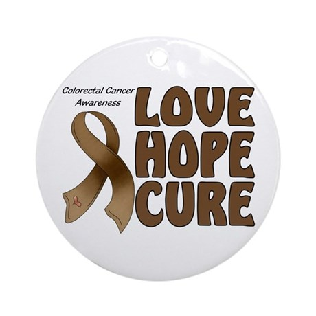 Colorectal Cancer Awareness Ornament (Round)