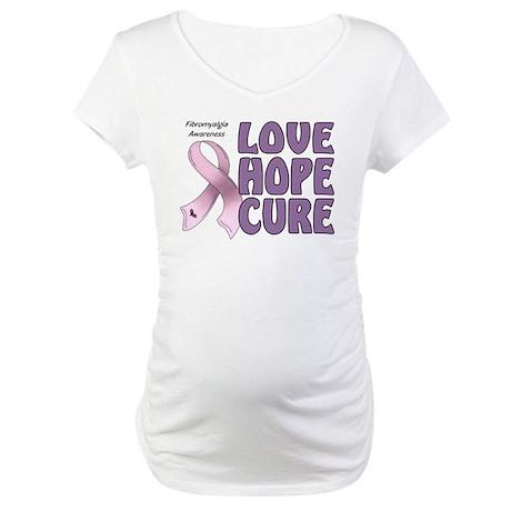 Fibromyalgia Awareness Maternity T-Shirt