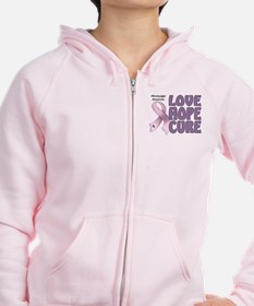 Fibromyalgia Awareness Zip Hoodie