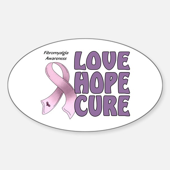 Fibromyalgia Awareness Oval Decal