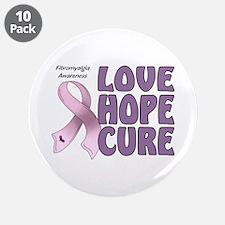 """Fibromyalgia Awareness 3.5"""" Button (10 pack)"""