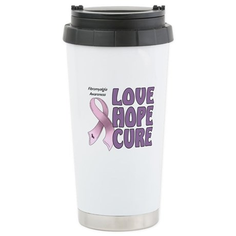 Fibromyalgia Awareness Stainless Steel Travel Mug
