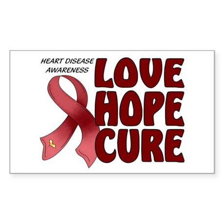 Heart Disease Awareness Rectangle Sticker