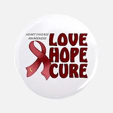 """Heart Disease Awareness 3.5"""" Button (100 pack)"""