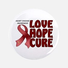 "Heart Disease Awareness 3.5"" Button"