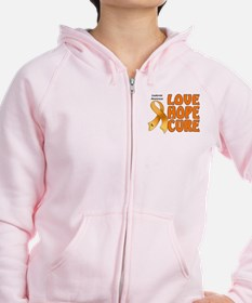 Leukemia Awareness Zip Hoodie