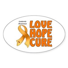 Leukemia Awareness Oval Sticker (10 pk)