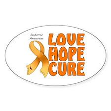 Leukemia Awareness Oval Decal
