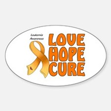 Leukemia Awareness Oval Decal