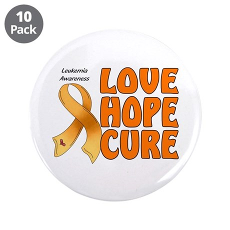 "Leukemia Awareness 3.5"" Button (10 pack)"