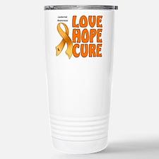 Leukemia Awareness Stainless Steel Travel Mug