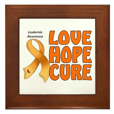 Leukemia Awareness Framed Tile
