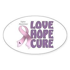 Lupus Awareness Oval Sticker (10 pk)