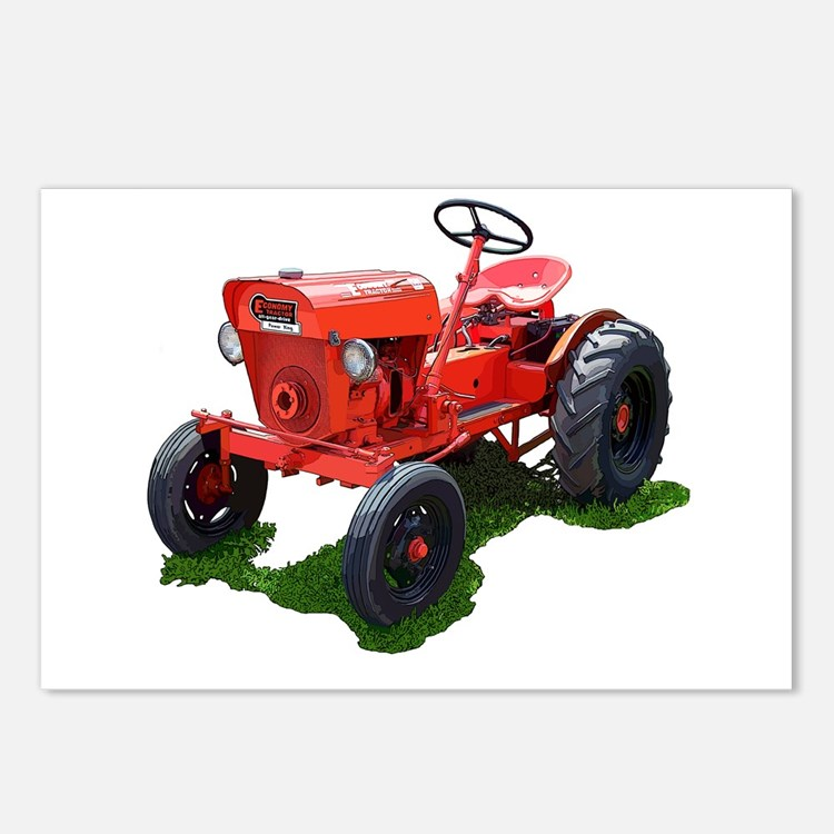 Cute Garden tractor Postcards (Package of 8)