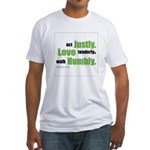 Micah 6:8 Walk Humbly with yo Fitted T-Shirt