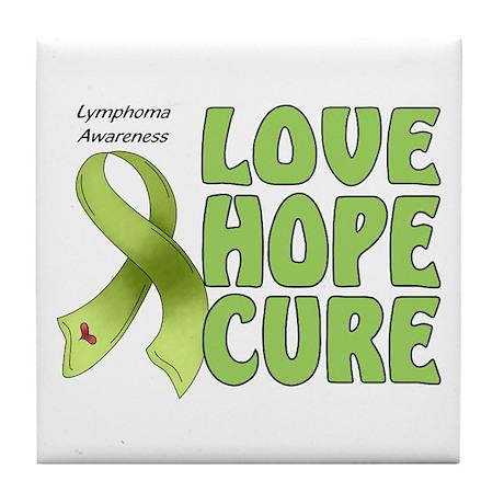 Lymphoma Awareness Tile Coaster