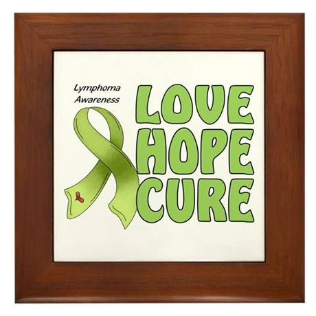 Lymphoma Awareness Framed Tile