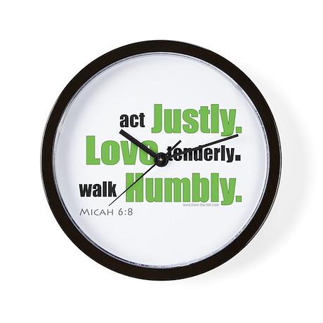 Micah 6:8 Walk Humbly with yo Wall Clock