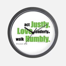 Micah 6:8 Walk Humbly with yo Wall Clock