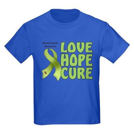 Mental Health Awareness Kids Dark T-Shirt