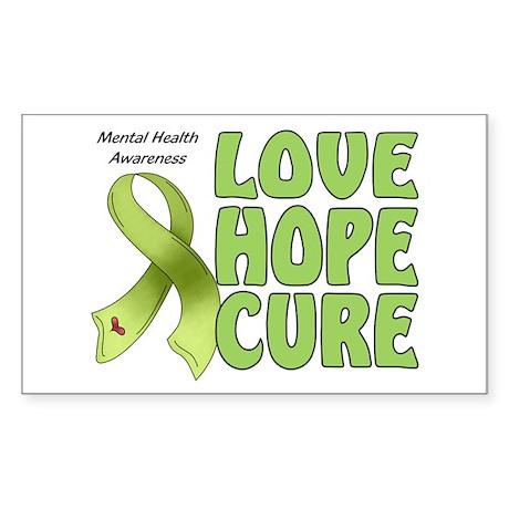 Mental Health Awareness Rectangle Sticker