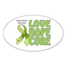 Mental Health Awareness Oval Sticker (10 pk)