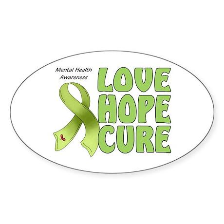 Mental Health Awareness Oval Sticker