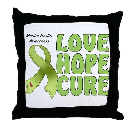 Mental Health Awareness Throw Pillow
