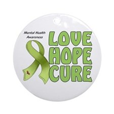 Mental Health Awareness Ornament (Round)
