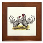 Silver Sebright Bantams Framed Tile