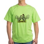 Silver Sebright Bantams Green T-Shirt
