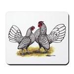 Silver Sebright Bantams Mousepad