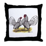 Silver Sebright Bantams Throw Pillow